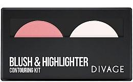 Духи, Парфюмерия, косметика Палетка контурирующая для лица - Divage Blush & Highlighter Contouring Kit