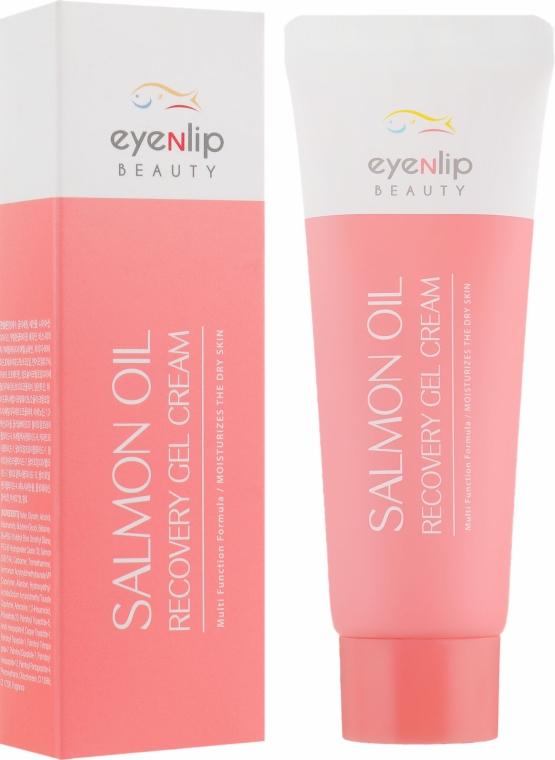 Крем-гель для лица с лососевым маслом и пептидами - Eyenlip Salmon Oil Recovery Gel Cream