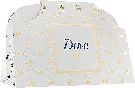 """Подарочный набор """"От всего сердца"""" - Dove (shm/250ml + cond/200ml + deo/50ml + soap/135g + bag)"""