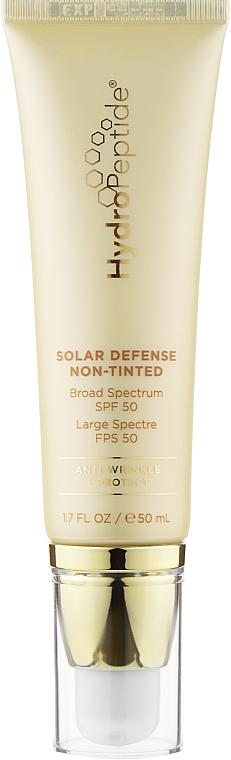 Увлажняющий и успокаивающий крем для лица без тонального эффекта - HydroPeptide Solar Defense Non-Tinted SPF 50
