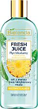 Духи, Парфюмерия, косметика Мицеллярная вода для сияния кожи - Bielenda Fresh Juice Micellar Water Pineapple