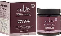 Духи, Парфюмерия, косметика Антивозрастной ночной крем для лица - Sukin Purely Ageless Restorative Night Cream