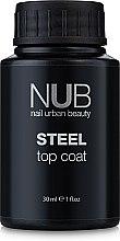 Духи, Парфюмерия, косметика Топ для гель-лака без липкого слоя - NUB Steel Top Coat