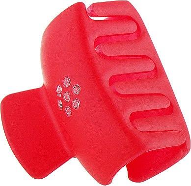 Крабик прямоугольный, PZ-942, красный - Dini Matte Style — фото N1