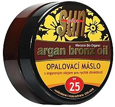 Духи, Парфюмерия, косметика Масло-бронзатор для загара - Vivaco Sun Argan Bronze Oil Tanning Butter SPF 25
