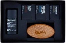 Духи, Парфюмерия, косметика Набор - Zew The Bearded Man's Holiday Must Have Box (soap/85mlx4 + brush/1psd)