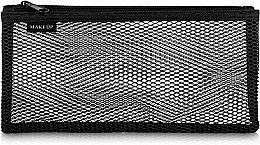 "Парфумерія, косметика Дорожня косметичка, чорна ""Black mesh"" 22 х 10 см - MakeUp"