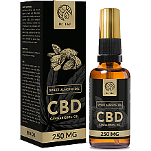 Духи, Парфюмерия, косметика Натуральное масло сладкого миндаля CBD 250mg - Dr. T&J Bio Oil