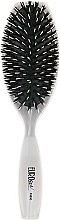 Духи, Парфюмерия, косметика Комбинированная щетка для волос 03690 - Eurostil Pure White Oval Large