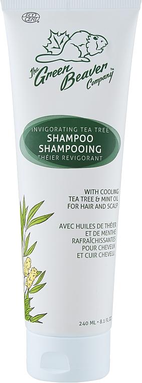 Шампунь укрепляющий с экстрактом чайного дерева - Green Beaver Invigorating Tea Tre Shampoo