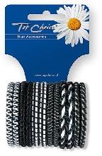 Резинки для волос 12шт, микс, 22371 - Top Choice
