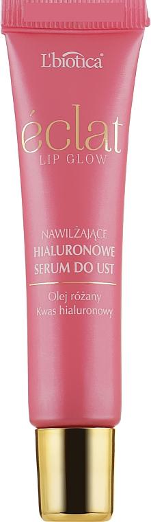 Увлажняющая сыворотка для губ с розовым маслом - L'biotica Eclat Lip Glow Moisturizing Lip Serum With Rose Oil
