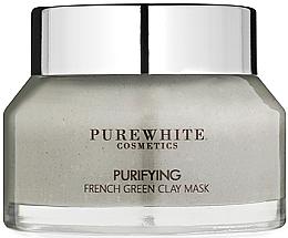 Духи, Парфюмерия, косметика Очищающая маска с французской зеленой глиной - Pure White Cosmetics Purifying French Green Clay Mask