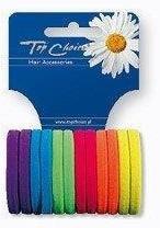 Резинки для волос «Neon» 22487, 12 шт, разноцветные - Top Choice