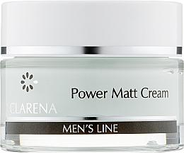 Духи, Парфюмерия, косметика Легкий матирующий мужской крем - Clarena Men's Line Power Matt Cream