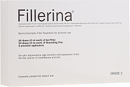 Духи, Парфюмерия, косметика Дермато-косметическая система, уровень 2 - Fillerina Dermo-Cosmetic Filler Treatment Grade 2 (gel/30ml + cr/30ml + applicator/2шт)