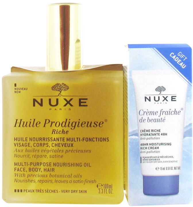 Набор - Nuxe (oil/100ml+cream/15ml)