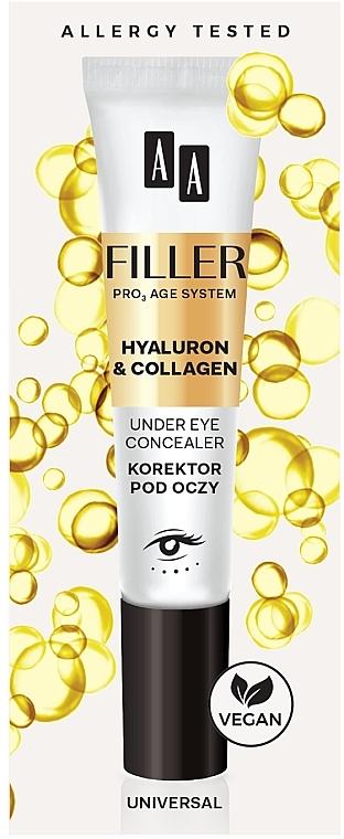Корректор для кожи вокруг глаз - AA Filler Under Eye Concealer