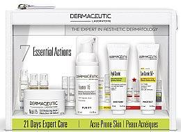 Духи, Парфюмерия, косметика Набор - Dermaceutic Laboratoire 21 Days Expert Care Ane-Prone Skin (cr/15ml + cr/15ml + mask/30ml + foam/30ml)
