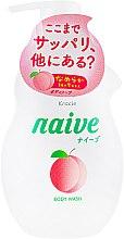 Духи, Парфюмерия, косметика Жидкое мыло для тела с экстрактом персика - Kracie Naive Body Wash
