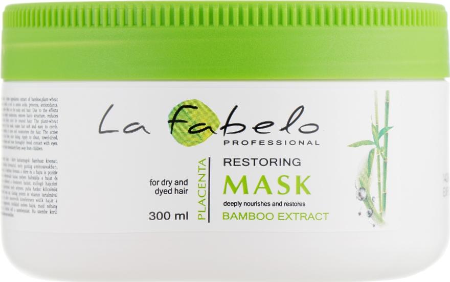 Маска для сухих и окрашенных волос - La Fabelo Bamboo Extract Mask