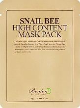 Духи, Парфюмерия, косметика Маска с высоким содержанием муцина улитки и пчелиным ядом - Benton Snail Bee High Content Mask Pack