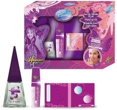 Духи, Парфюмерия, косметика Admiranda Hannah Montana - Набор (edt 50ml + блеск для губ 7ml + палитра голубая)
