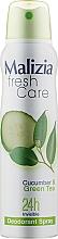 Духи, Парфюмерия, косметика Дезодорант-антиперспирант - Malizia Frash Care Deodorant Spray Cucumber & Green Tea