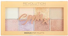 Парфумерія, косметика Палетка хайлайтерів для обличчя - Makeup Revolution Soph Highlighter Palette