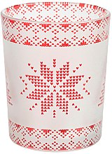 Духи, Парфюмерия, косметика Подсвечник для свечи - Yankee Candle Red Nordic Frosted Glass Tealight/Votive Holder
