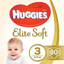 "Духи, Парфюмерия, косметика Подгузники ""Elite Soft"" 3 (5-9кг, 80 шт) - Huggies"