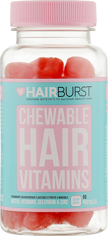Жевательные витамины для роста и укрепления волос - Hairburst Chewable Hair Vitamins