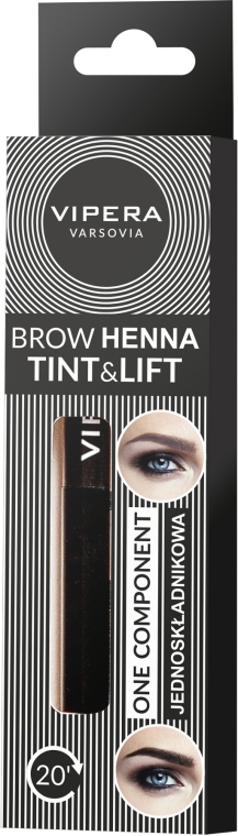 Однокомпонентная хна для бровей - Vipera Tint&Lift Brow Henna