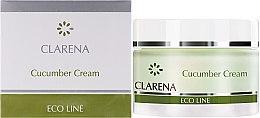 Духи, Парфюмерия, косметика Очищающий крем с экстрактом огурца - Clarena Eco Line Cucumber Cream