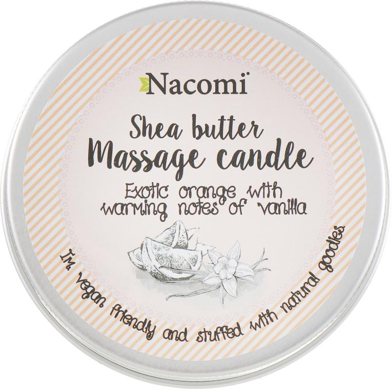 """Свеча с маслом """"Апельсин и ваниль"""" - Nacomi Shea Butter Massage Candle"""