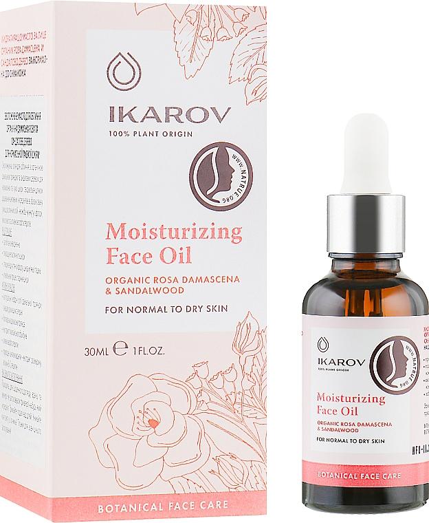 """Увлажняющее масло для лица """"Дамасская роза и сандаловое дерево"""" - Ikarov Moisturizing Face Oil"""