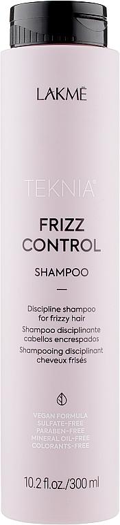 Бессульфатный дисциплинирующий шампунь для непослушных или вьющихся волос - Lakme Teknia Frizz Control Shampoo