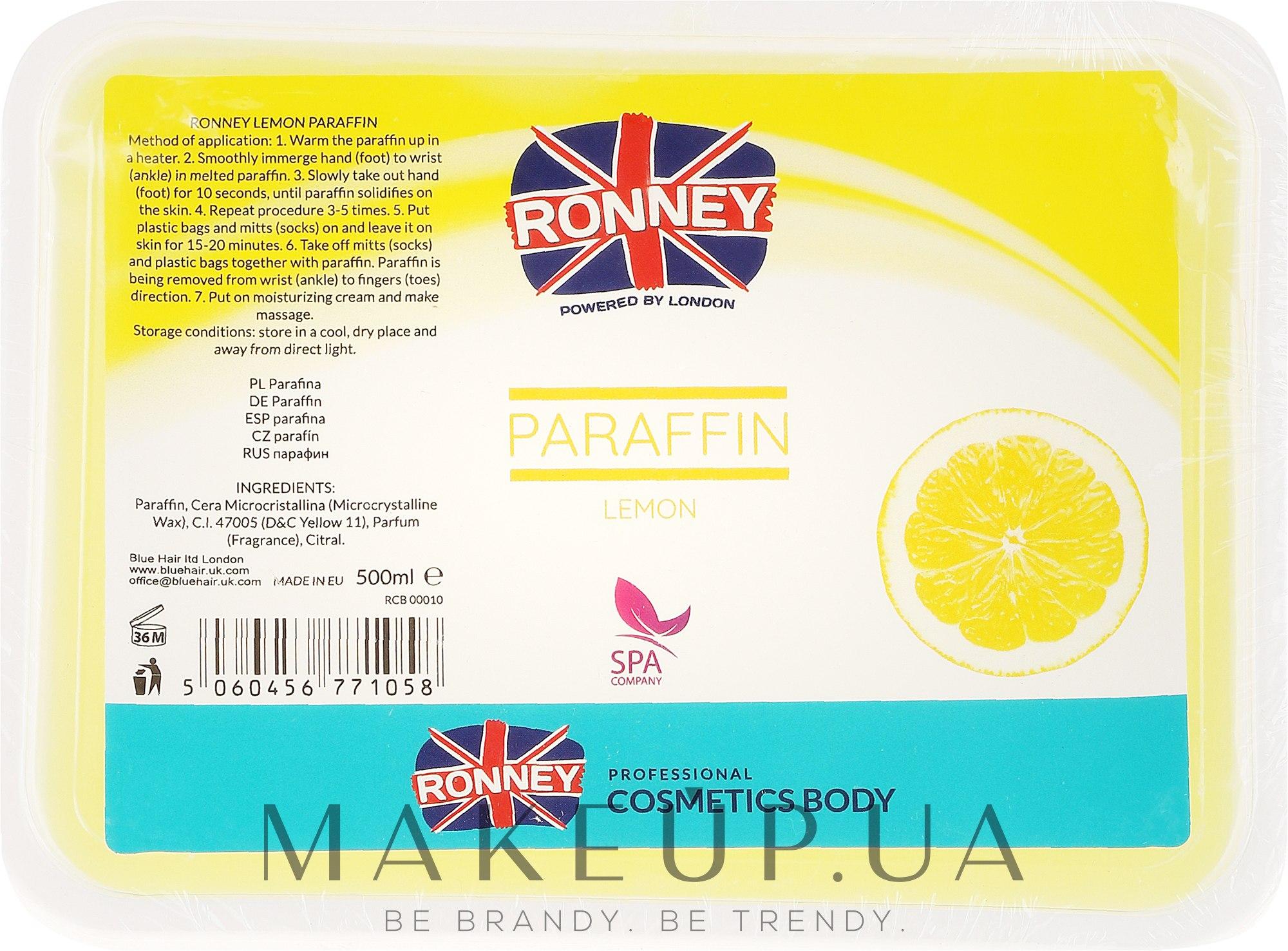 "Парафин для тела ""Лимон"" - Ronney Paraffin Lemon — фото 500ml"