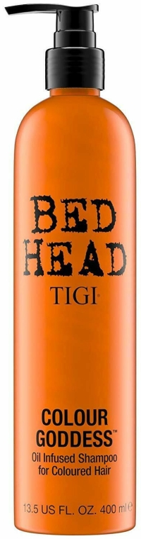 Усиливающий цвет шампунь - Tigi Bed Head Colour Goddess Oil Infused Shampoo
