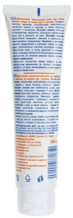 Крем для рук і нігтів лимонно-персиковий - Mincer Pharma Hand & Nail — фото N2