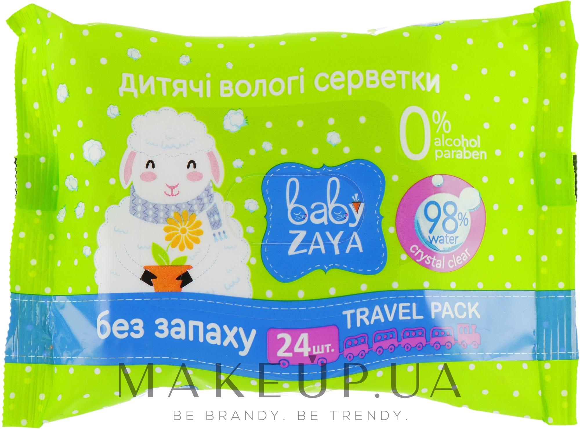 """Влажные салфетки """"Без запаха"""" - Baby Zaya — фото 24шт"""