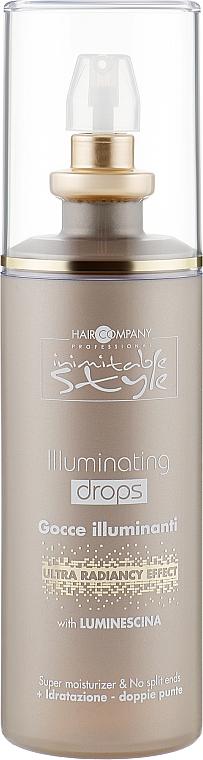 Капли для блеска волос - Hair Company Inimitable Style Illuminating Drops