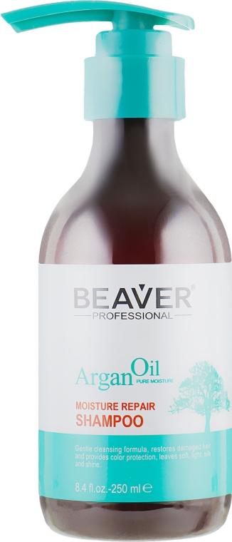 Питающий восстанавливающий шампунь с Аргановым маслом - Beaver Professional Argan Oil Shampoo