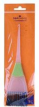 Духи, Парфюмерия, косметика Кисть для окрашивания волос, 65002, белая с зеленым - Top Choice