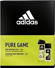 Духи, Парфюмерия, косметика Adidas Pure Game - Набор (edc/75ml + sh/gel/250ml)