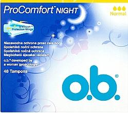 Духи, Парфюмерия, косметика Тампоны, 48 шт - O.b. ProComfort Night Normal