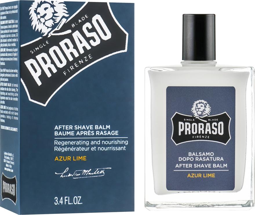 Бальзам после бритья - Proraso Azur Lime After Shave Balm