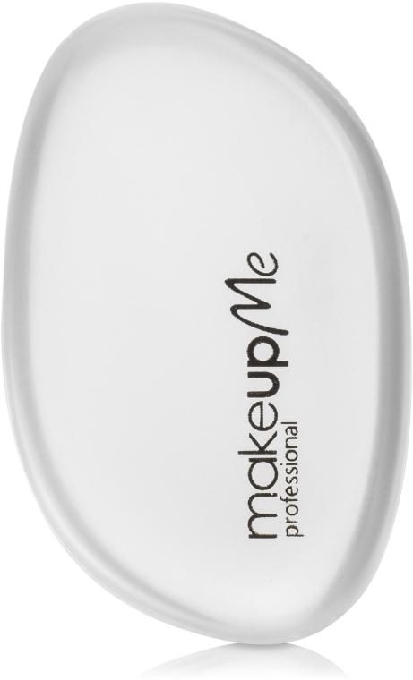 Силиконовый спонж для макияжа овальной формы, белый - Make Up Me Siliconepro