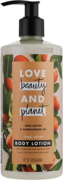 Лосьон для тела бархатное масло ши - Love Beauty&Planet