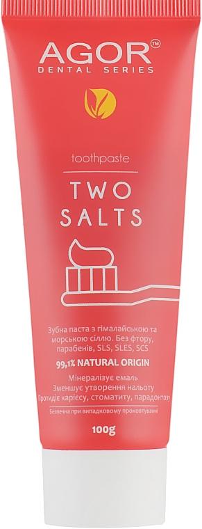 Солевая зубная паста - Agor Two Salts Toothpaste